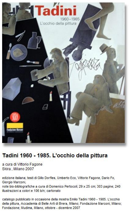 Francesco Tadini, archivio Tadini, monografia mostra Fondazione Marconi