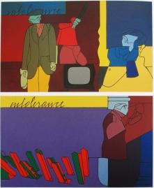 Tadini Francesco cura l'archivio Emilio Tadini, opere di valerio adami, 1974