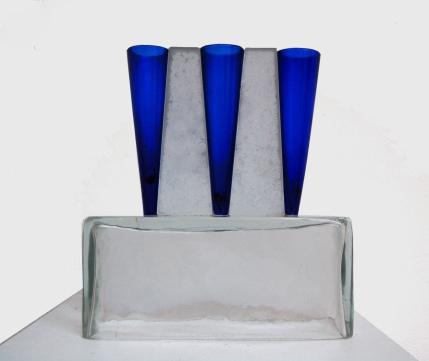 opere in vetro di Emilio Tadini